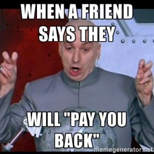 Dr. Evil Pay Back Meme