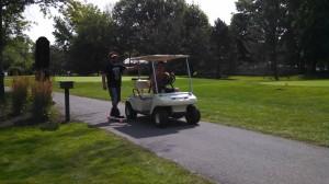 Kevin & Kevin - Golf cart