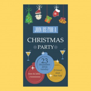 Christmas party invitation flat design