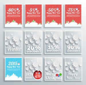 Winter Christmas sale design elements