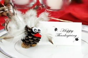 Place Card at Thanksgiving Day