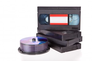 Old Video Cassette tapes with DVD discs